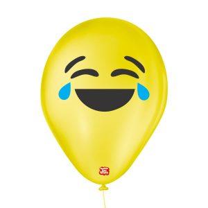 balões látex personalizados emoji alegria
