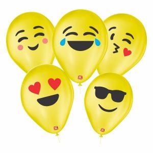 balões personalizado sortidos emoji