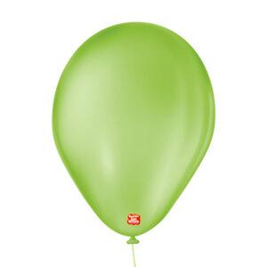 balão bexiga látex São Roque liso 7 verde lima