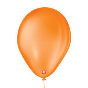 balão bexiga látex-São Roque liso 9 laranja mandarim