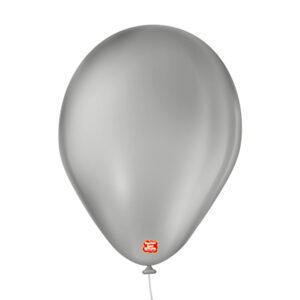balão bexiga látex são roque liso 9 cinza