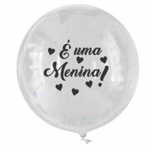 balão bubble personalizado menina