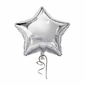 balão metalizado FOIL estrela prateado 18 polegadas