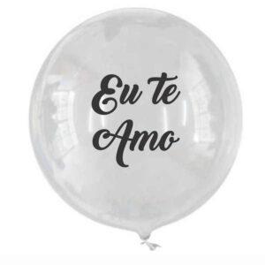 balão personalizado bubble 18 polegadas eu te amo