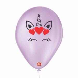 balões personalizados látex unicórnio corações