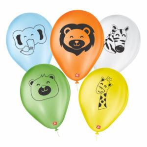 baloes personalizados sortidos safari