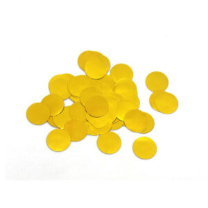 confete metalizado dourado para balões bubble