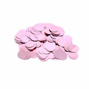 confete metalizado redondo rosa claro 15mm para balões bubble