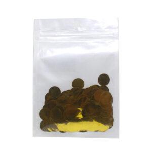 confetes metalizados redondos dourado 15mm embalados para balão bubble
